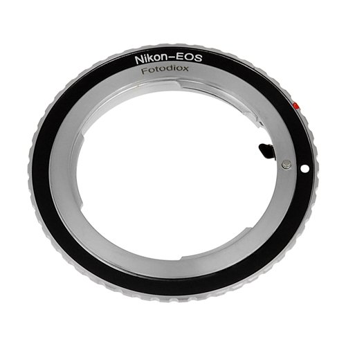 Fotodiox Lens Mount Adapter, Nikon F Lens to Canon EOS EF, EF-S Mount Camera such as EOS 7D, 5D, 60D & Rebel T3 -