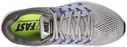 Nike Air Zoom Pegasus 33 (W), Scarpe da Corsa Uomo Multicolore (Wolf Grey/Black/Dark Grey/Photo Blue)