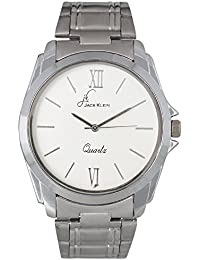 Jack Klein Metal Analogue Round White Dial Women's Wristwatch (JK_W-1148)