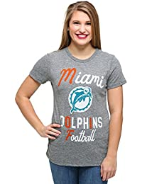Junk Food Womens Miami Dolphins Touchdown Tri-Blend T-Shirt