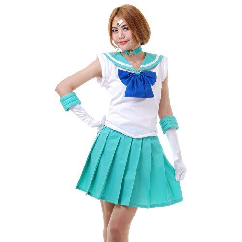 Kostüm Moon Neptun Sailor - Michiru Kaioh Sailor Neptun Kostüm Japanische Schuluniform Baumwolle S