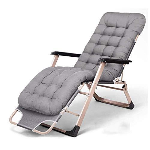 WJJJ Liegen für Erwachsene mit Outdoor-Campingkissen Patio Beach Lawn Travle Klappstuhl Zero Gravity Lounge Chair (Farbe: Grau) - Teak Patio Möbel-sets
