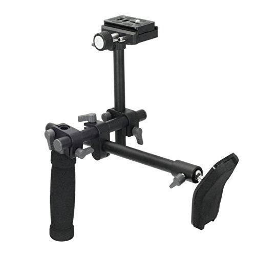 Fotga Einzelner Handgriff-Schulter-Stuetzanlage-Bracket Stabilizer + Schnellwechselplatte fuer DSLR-Kamera Camcorder (Release Bracket Quick Lcd)