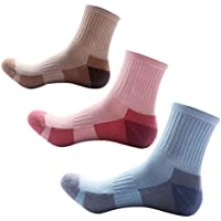 VORCOOL 5 pares de mujeres calcetines de senderismo Wicking Crew Calcetines Calcetines deportivos Espesar Calcetines hasta la rodilla para caminatas al aire libre Trekking Escalada (colores aleatorios)