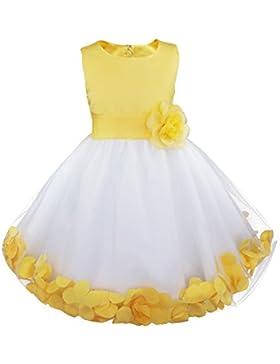 YIZYIF Vestido De Flores Niñas Falda Pétalos De Flor Cinturón De Tul Elegante Vestido De Princesa Infantil Fiesta...