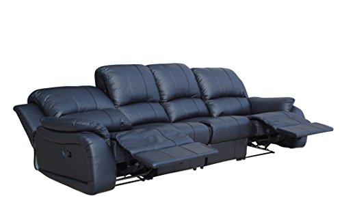 Voll-Leder Couch Sofa-Garnitur-Relaxsessel Fernsehsessel 5129-4-S