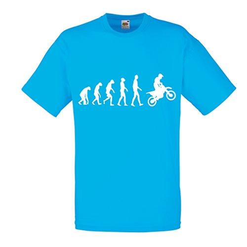 lepni.me Camisetas Hombre Evolución del Motocross, Camisa de La Motocicleta, Desgaste de...