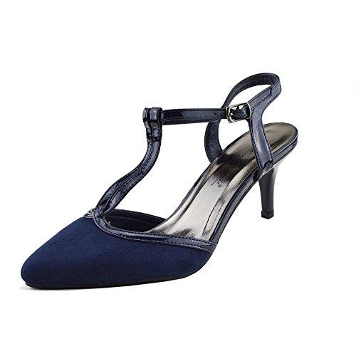 Kick Footwear - Donna Stiletto Tacchi A Spillo Di Nozze , Festa Strappy ,Scarpe Da Ufficio Marina