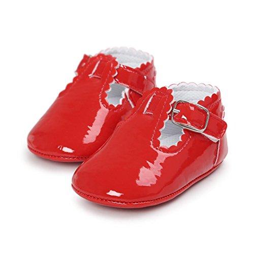 Kolylong Chaussures Bébé Lettre Princesse Dentelle Rouge