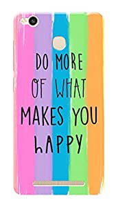 Xiaomi Redmi 3s Prime Black Hard Printed Case Cover by Hachi - Quote Design