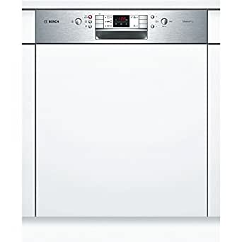 Bosch SMI50L05EU lave-vaisselle - laves-vaisselles (Semi intégré, A, A+, Acier inoxydable, Blanc, boutons, A)