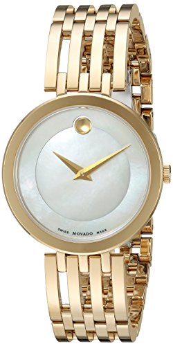 Movado Women's Swiss Quartz and Stainless-Steel Casual Watch, Color:Gold-Toned (Model: 0607054)