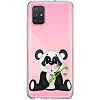 Oihxse Cristal Compatible con Galaxy J4 Prime/J4 Plus/J6 Prime/J6 Plus Funda Ultra-Delgado Silicona TPU Suave Protector Estuche Creativa Patrón Panda Protector Anti-Choque Carcasa Cover(Panda A2)