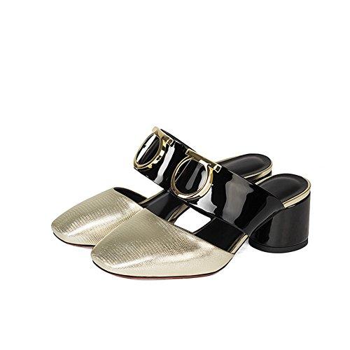 Sandali da moda estivi/Donne con le pantofole mezze in spessa e baotou A