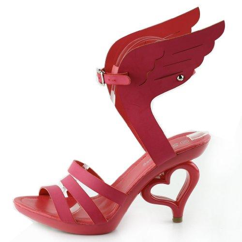 Mostra Story 20 colori dei fiori removibile cinturino alla caviglia sposa sandali scarpe da sposa, SM33101 Ala di Angelo Rosa