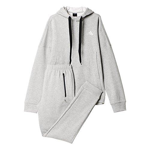 adidas Oberbekleidung Tracksuit Hipster Cotton Men Trainingsanzug, Medium Grey Heather, 8