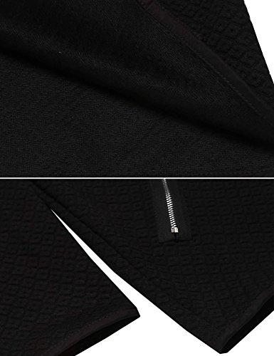 Legros Damen Cardigan Kurz Blazer Elegant Herbst Jacke Oberteile Tops Schwarz