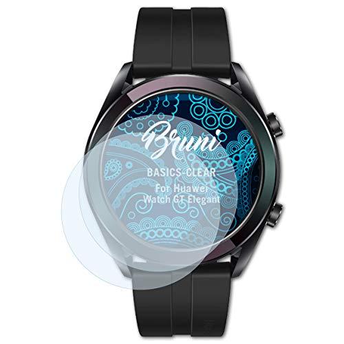 Bruni Schutzfolie für Huawei Watch GT Elegant Folie, glasklare Bildschirmschutzfolie (2X)