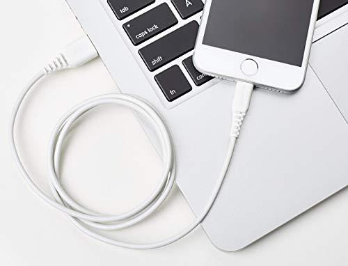 AmazonBasics -  Cable de USB A a Lightning,  con certificación MFi de Apple -  Blanco,  0, 9 m,  2 unidades