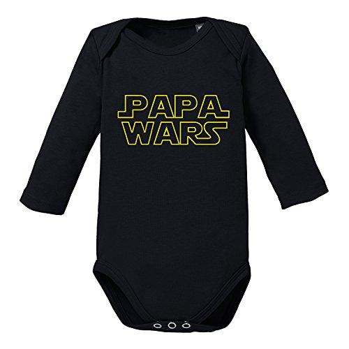 LittleBigFamily - Papa Wars Baby Body Schwarz 00-02 Monate (Einzigartigen Star Wars Geschenke)