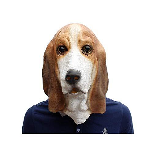 CX TECH Party Animal Mask Hundekopfmaske Latexkopfgummimasken Deluxe Fancy Dress Unisex-Adult