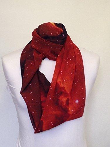 L&S PRINTS FOAM DESIGNS Galaxy Design 7Infinity Schal Jersey oder Chiffon Unisex bedruckt Loop Fashion Schals (Jersey Galaxy)