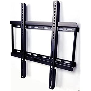 """AlexVyan - Imported Fixed TV Wall Mount Bracket for 32"""" to 55"""" Flat Panel For LCD / LED / OLED Plasma - Strong Built with Premium Finishing - Load Capacity 50KG - (200*200 to 400*400 MM Vesa) For TV of Sony LG Samsung Micromax Lloyd Panasonic Bravia Phillips Yu Hier Videocon and Others"""