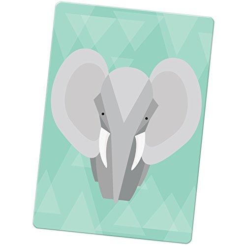 geometrico-moderno-animali-magnete-per-frigorifero-big-tusk-ear-grey-elephant-large