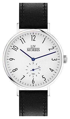 LIV MORRIS Bauhaus Automatikuhr 1963 TETHYS - Armbanduhr im Bauhausstil Saphirglas Ø 41mm Herrenuhr
