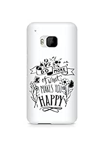AMEZ do more of what makes you happy Back Cover For HTC One M9
