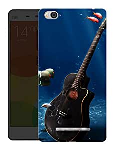 "Humor Gang Guitar Underwater Printed Designer Mobile Back Cover For ""Xiaomi Redmi Mi 4C"" (3D, Matte Finish, Premium Quality, Protective Snap On Slim Hard Phone Case, Multi Color)"