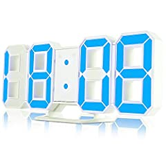 Idea Regalo - iLifeSmart 3D Sveglia Digitale Orologio Digitale a Parete a LED 3 Luminosità Regolabile Livello 12 /24ore Display con Funzione Snooze