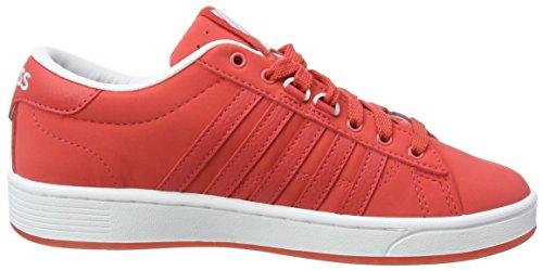 K-Swiss Hoke Snb Cmf, Baskets Basses Femme Rouge - Red (Cayenne/White)