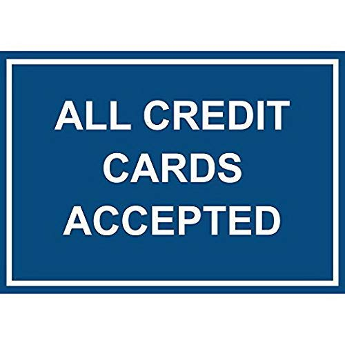 MNUT Metallschild aus Aluminium, 20,3 x 30,5 cm, alle Kreditkarten akzeptiert, Blechschild