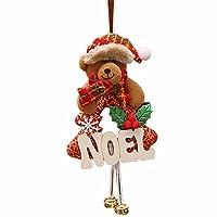 Clemunn Christmas Ornaments Home Furnishing Decoration Tree Ornaments Accessories Sale (24*12cm, Pattern bear NOEL)