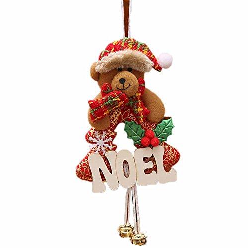 TEBAISE Weihnachten Karneval Deko Weihnachten Glocke Dekorationen Jingle Bells Verzierung für Haus Weihnachtsbaum Tür