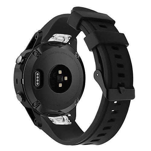 TRUMiRR Für Garmin Fenix 5X/Fenix 3 Uhrenarmband, 26mm Quick Fit Silikon Gummiarmband 316L Edelstahl Schnalle Handgelenk Armband