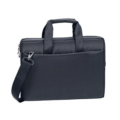 """RIVACASE Notebooktasche bis 13.3"""" – Moderne Tasche mit Zusatzfächern und extra verstärkten Seitenwänden – Schwarz"""