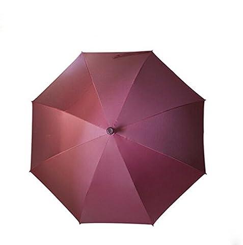 ssby pour donner les voyage, escalade indispensable, fermement Maintenu pour béquilles antidérapant long en vinyle parapluies, crème solaire Hommes de parapluies, Rouge