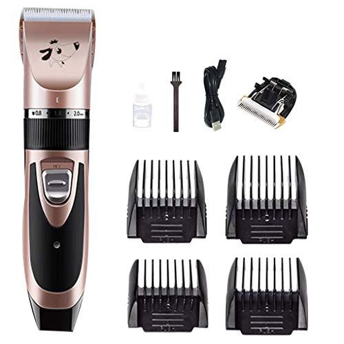 Lindahaot Elektronische Pet Shave Clipper Hair Trimmer Set 5 Modi Wiederaufladbare Pet Styling Beauty Supplies Roségold 9 -