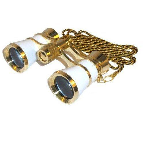 hqrp-3-x-25-opera-binoculars-theater-glasses-w-crystal-clear-optic-cco-white-pearl-with-gold-trim-w-
