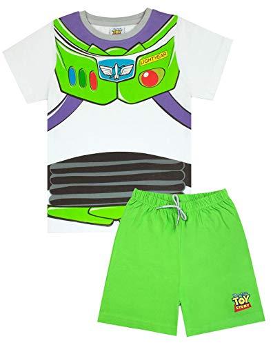 Disney Pixar Toy Story Buzz Lightyear Disfraz de Pijama Corto para niño Verde Verde 7-8 Años
