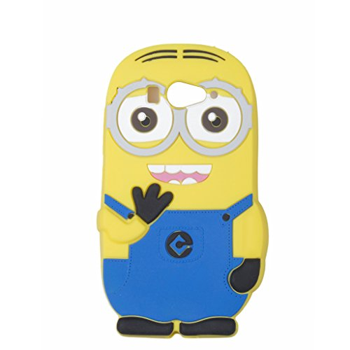 Double Eye Cute Despicable Me Minion Silicone Back Cover For Xiaomi Redmi 2S  available at amazon for Rs.349