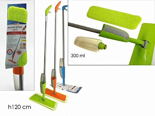 casa - scopa SPINNY con spruzzino lavapavimenti colori assortiti - 1 pezzo
