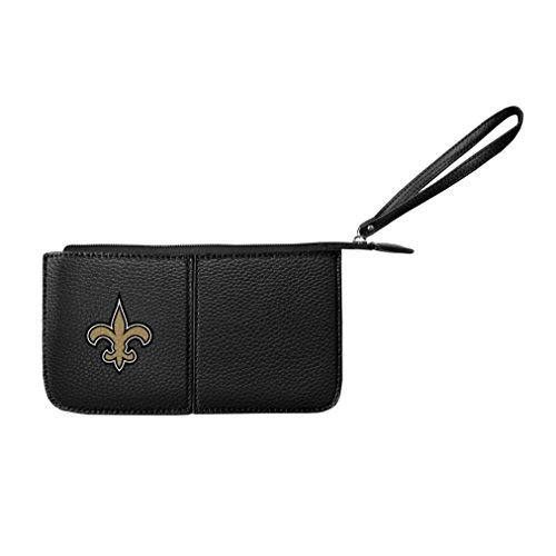 Littlearth Damen NFL New Orleans Saints Pebble Wristlet, schwarz, 20,3x 10,2x 2,5cm -