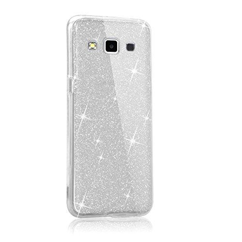 Custodia Samsung Galaxy A3 (2015) A300 Cover Case , Vandot [360 gradi] 3 in 1 Protezione Completa Glitter Sparkle Bling Bling Trasparente Custodia per Samsung Galaxy A3 (2015) A300 Cover Case Caso Gom 360 Clear