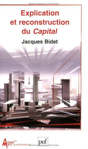 Explication et reconstruction du Capital