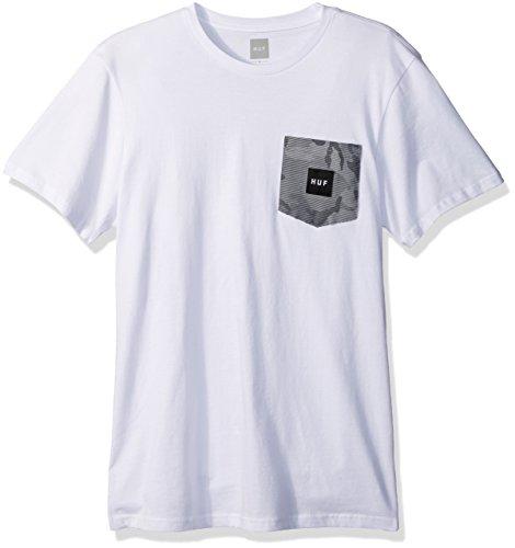 Herren T-Shirt HUF Street Ops Camo Pocket T-Shirt White