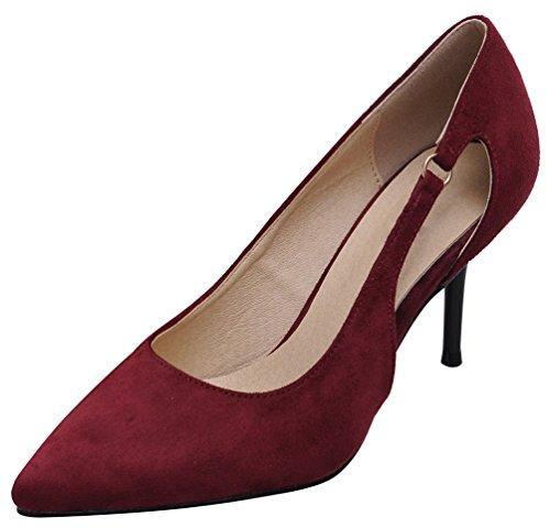 CFP , Sandales Compensées femme Rouge bordeaux/blanc