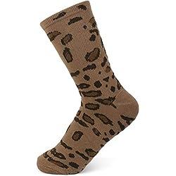 styleBREAKER Calcetines de Mujer con Motivo de Leopardo, Talla 35-41 EU / 5-9 US / 4-7 UK 08030005, Color:Marrón